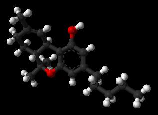 Delta-9-tetrahydrocannabinol-from-tosylate-xtal-3D-balls